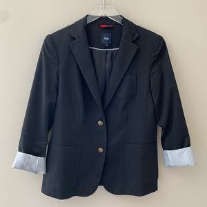 Gap Black with Antique Buttons Academy Blazer